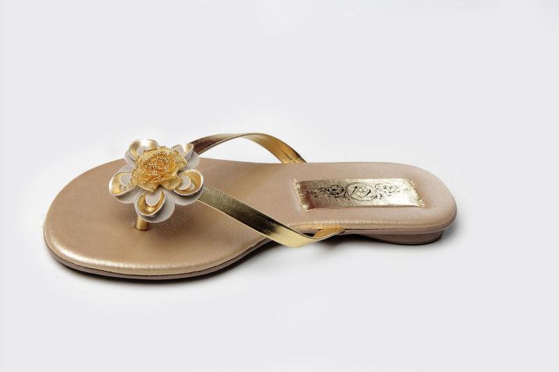 Slim Fashion Flor Dourada e Cinza