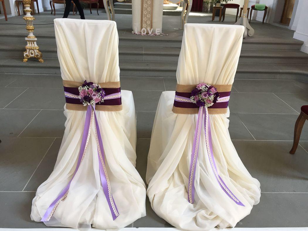 Brautstühle: Vintage lila/violett
