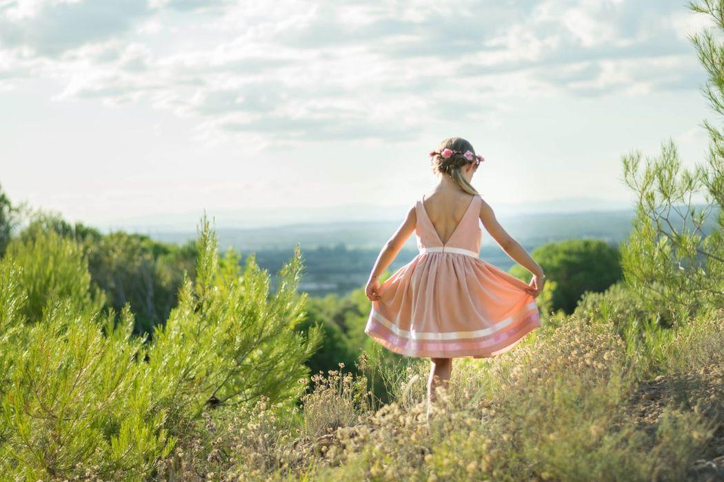 Kaa Couture modèle robe de cortège enfant BISCUIT