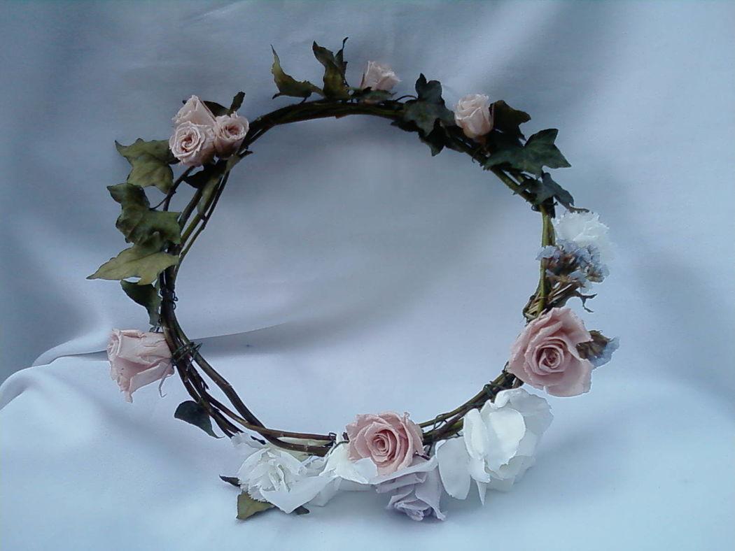 Flor de Cór - guirlanda de flores naturais preservadas
