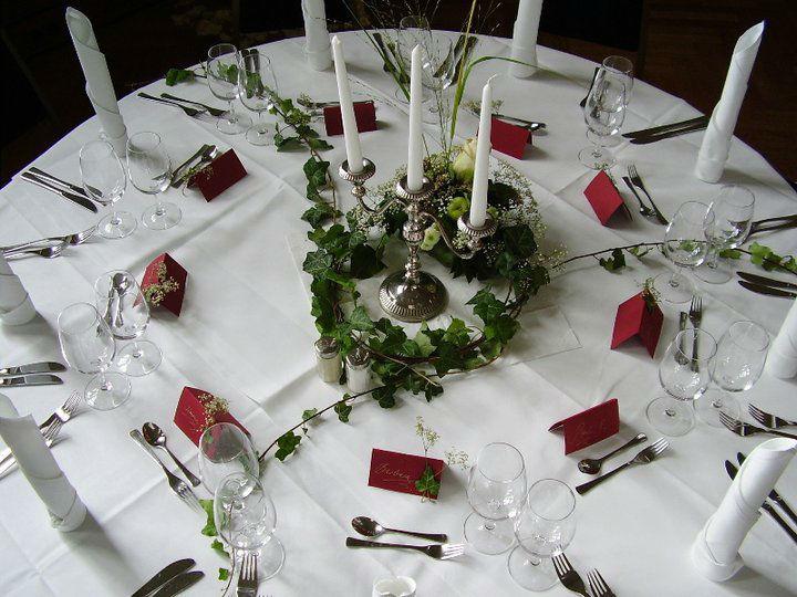 Beispiel: Tischdekoration, Foto: Logenhaus.
