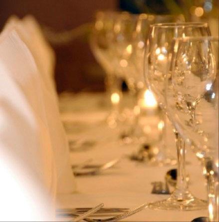 Beispiel: Tischdekoration - Detail, Foto: Wirtshaus in der Au.