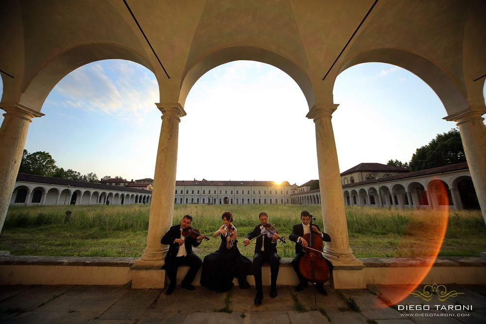 Professional string quartet for your wedding in Italy