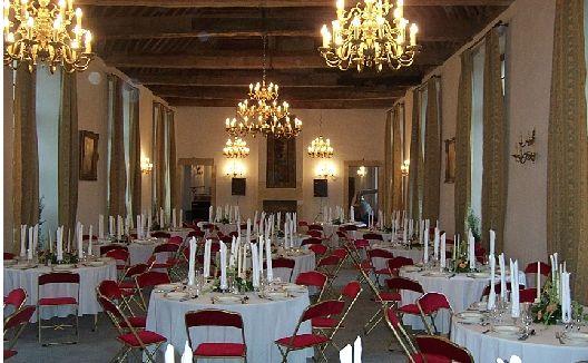 Salons Richelieu (Salle du Psdt du Conseil) 200 m2 en situation lors d'un dîner.