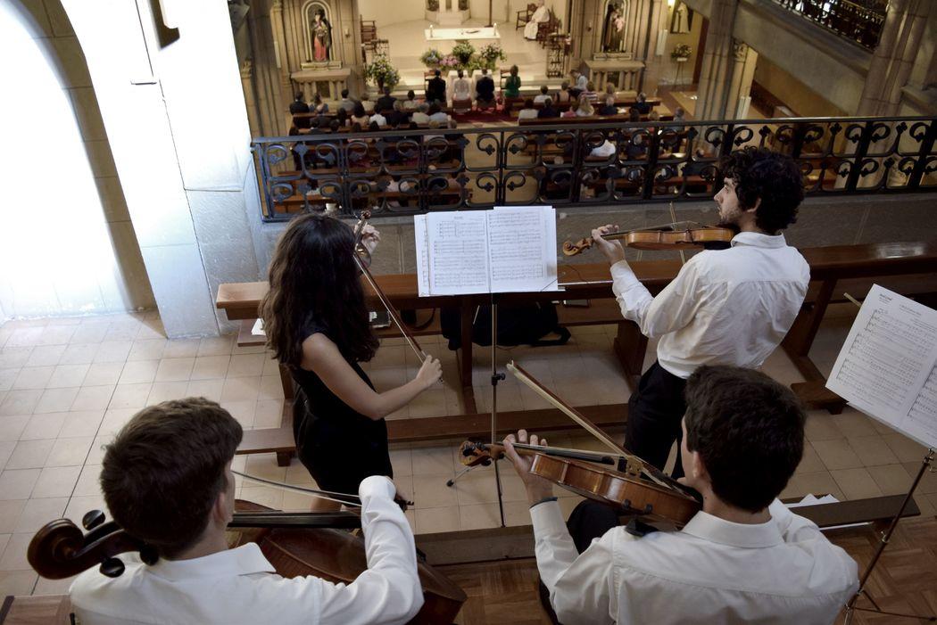 Cuarteto Lírice, música para una boda en la Asunción, Gijón.