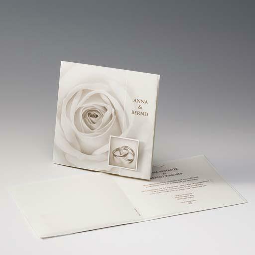 Beispiel: Hochzeitseinladung mit Rosenmotiv, Foto: Druckerei Rokos.
