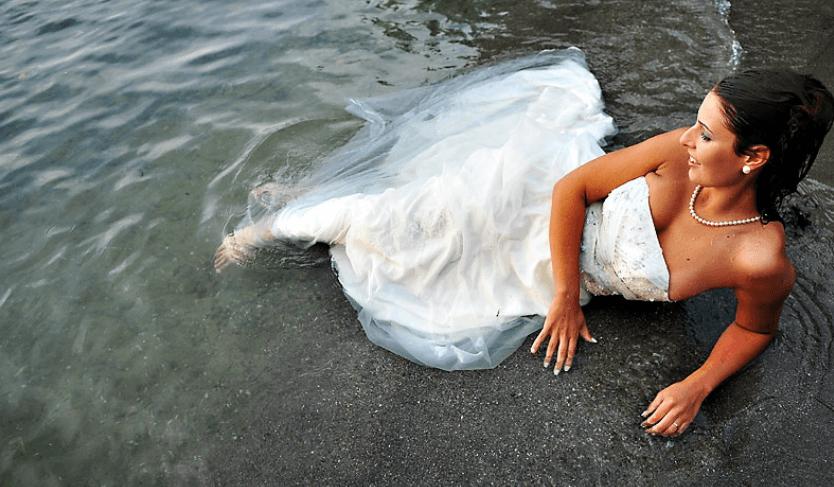 Beispiel: Trash the Dress, Foto: Traumfoto Hochzeitsfotografie.