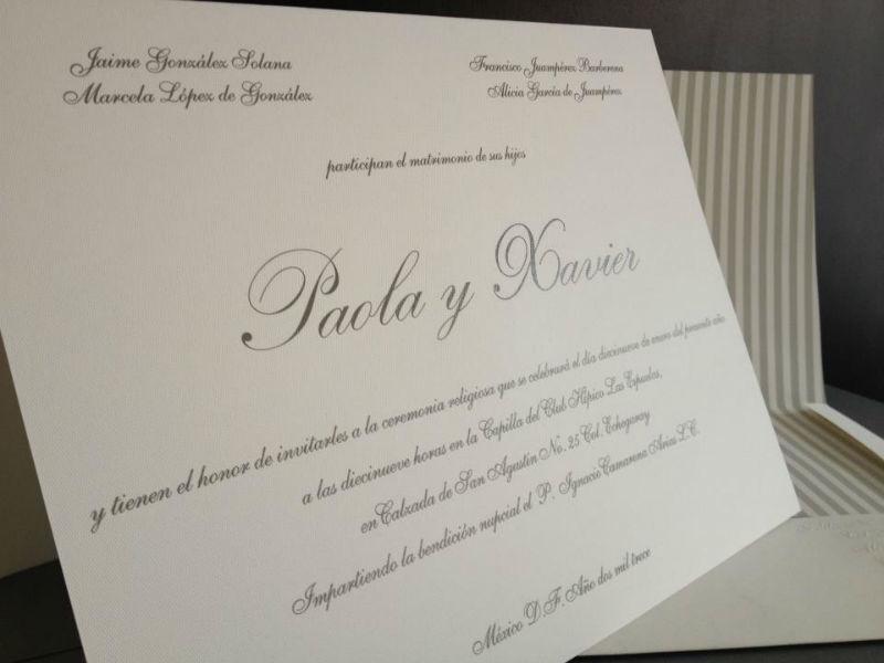 Invitaciones de boda en Puebla por La Casa de Letras