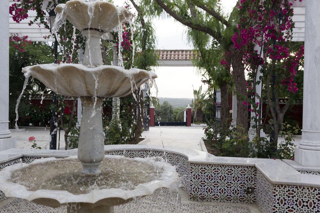 Jardines Salón Azahar. Hacienda Azahares