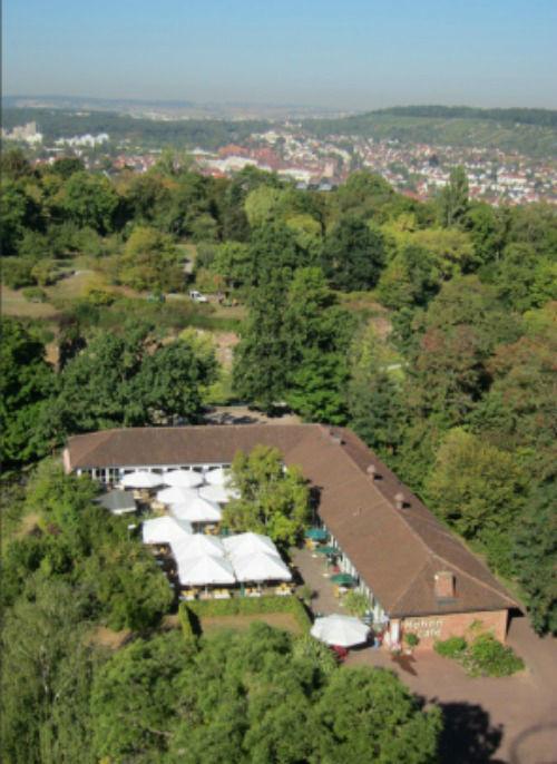 Beispiel: Luftbild, Foto: Restaurant Höhencafé Killesberg.
