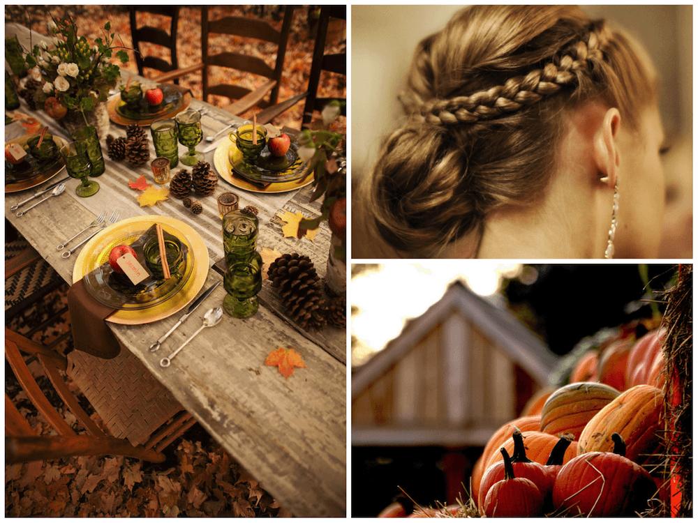 Beispiel: Inspiration Herbsthochzeit, Foto: Die Hochzeitsfee.