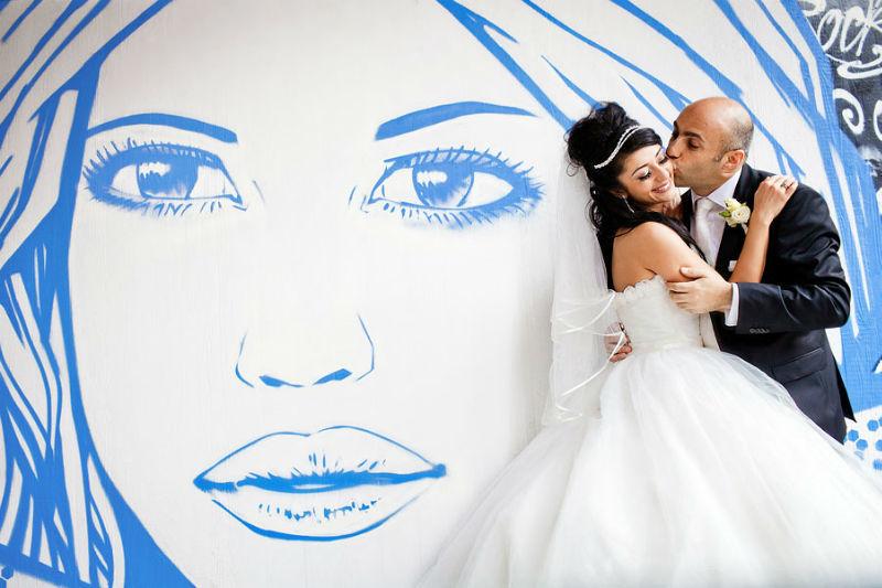 Beispiel: Hochzeitsfotos Kreativität, Foto: Kajul Photography.