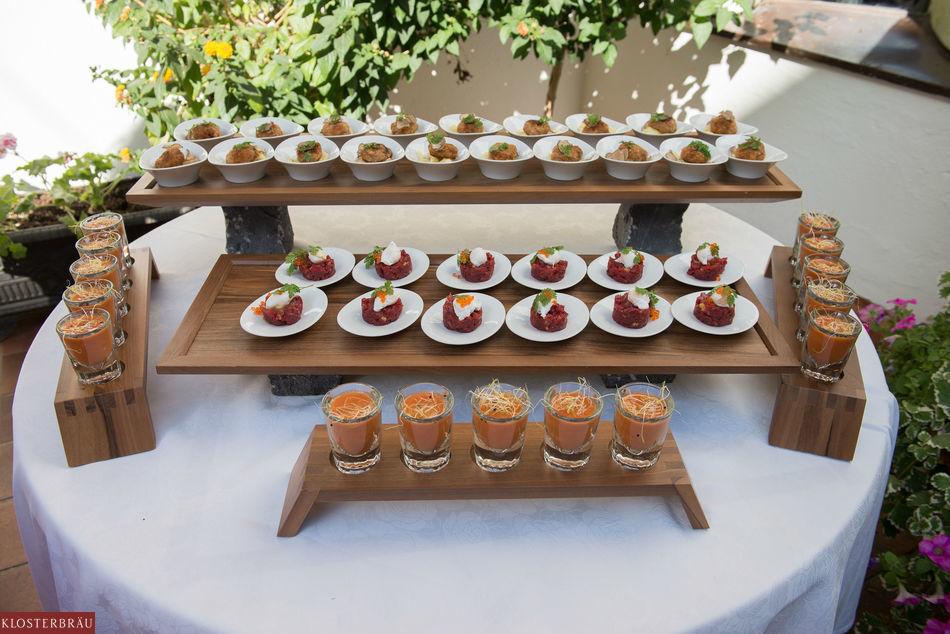 Beispiel: Häppchen für die Hochzeitsgäste, Foto: Hotel & Spa Klosterbräu.