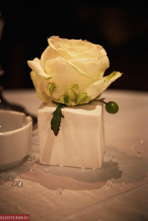 Beispiel: Tischdekoration, Foto: Hotel & Spa Klosterbräu.