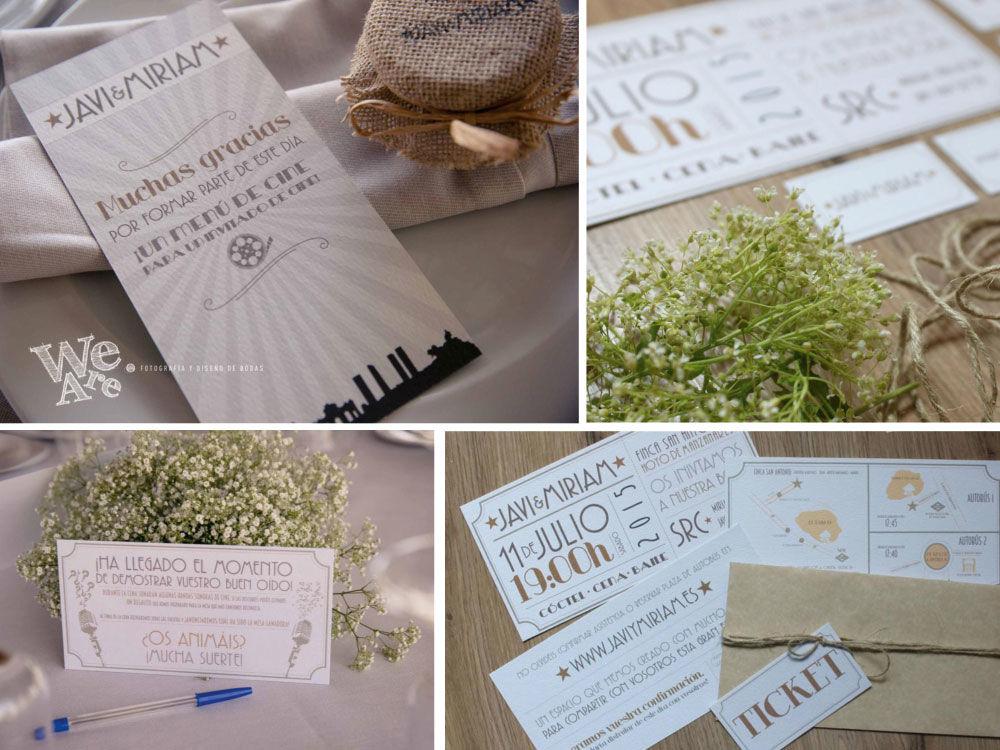 Diseño, decoración y organización de Bodas. Moodboard Boda. We Are, Fotografía & Diseño de Bodas.