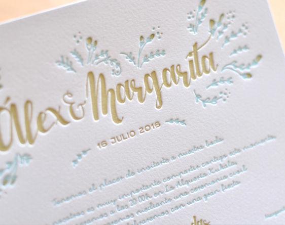 Modelo Margarita Letterpress