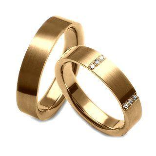 Verse Joaillerie | Alianças de Casamento, Anéis de Noivado Aliança reta com acabamento fosco - VERSE Joaillerie