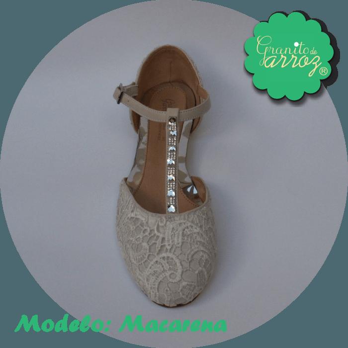 Modelo Macarena/ Encaje Blanco