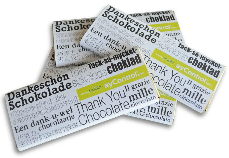 Beispiel: Dankes-Schokolade, Foto: Echt kreativ.