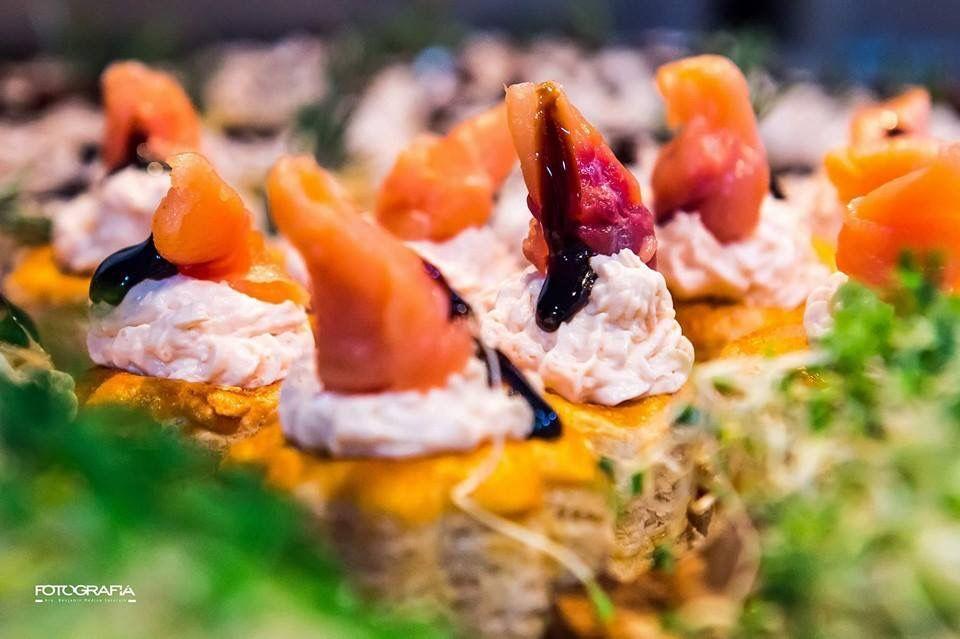 Bocadillos de salmón
