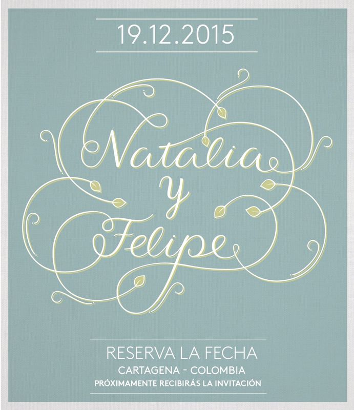 Save the Date - Lettering hecho a mano y digitalizado.