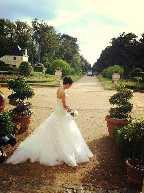 La mariée - photo de mariage Château de Chambiers