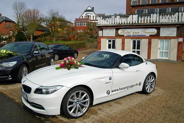 Beispiel: Hochzeitsauto, Foto: Hotel zur Treene.