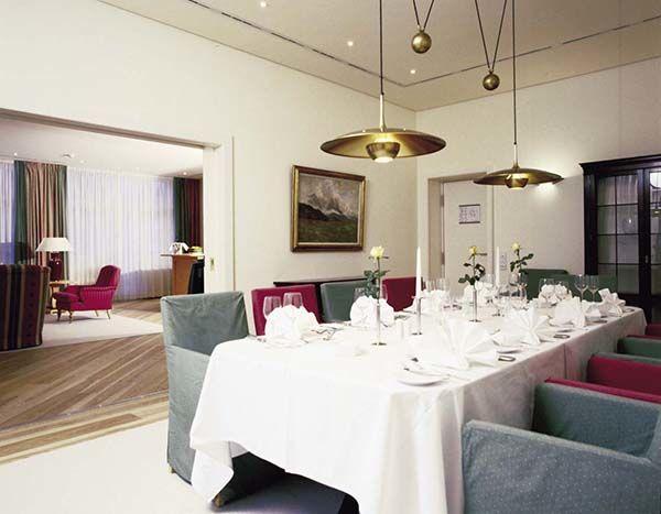 Beispiel: Esszimmer Präsidentensuite, Foto: Hotel Residence Starnberger See.