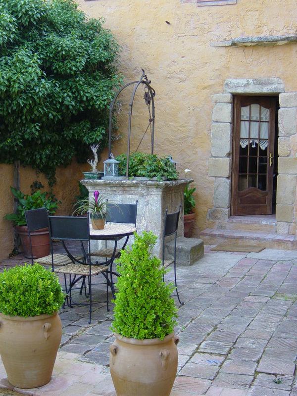 Patio privado casa Farigola