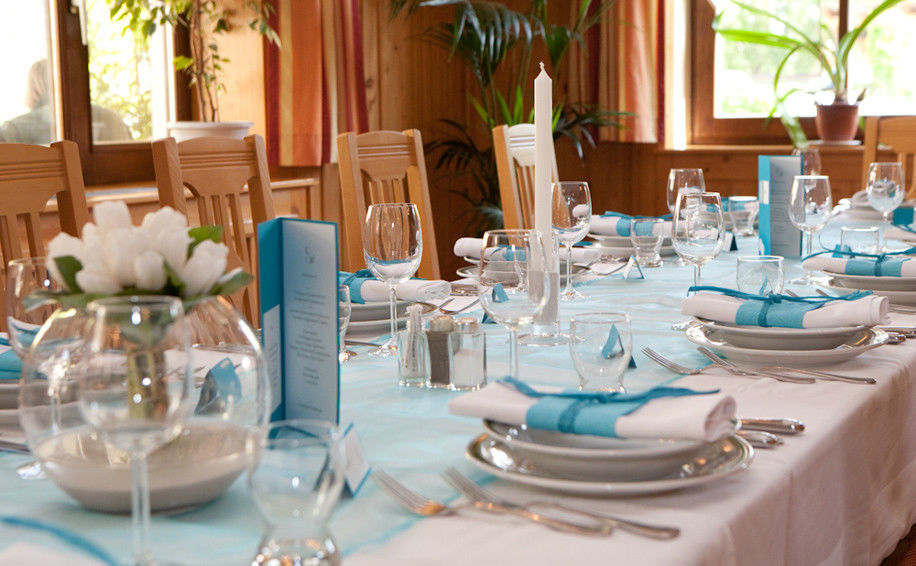 Beispiel: Tischdekoration, Foto: Altes Brauhaus.