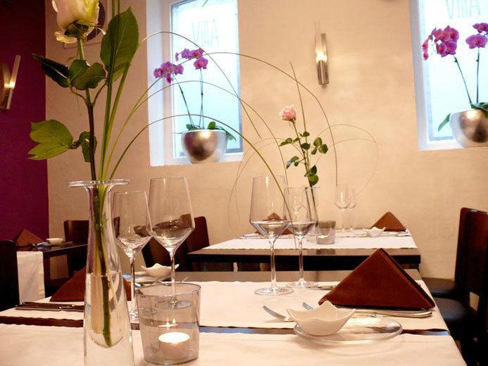 Beispiel: Restaurant Villa - Tischdekoration, Foto: Restaurant Villa.