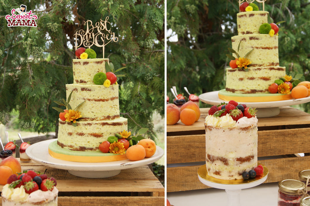 Naked cakes para mesa dulce para boda en Can Gabarró.