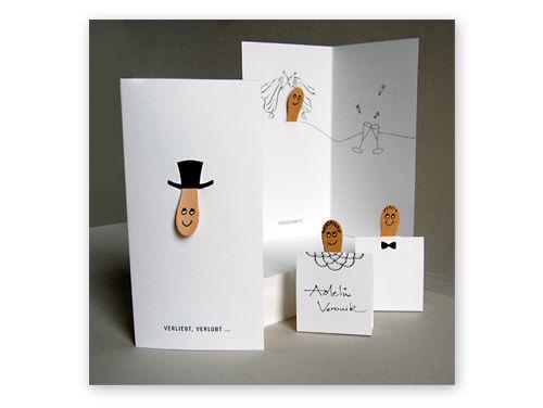 Hochzeitskartenset mit Eisstielen von Maria Herrlich