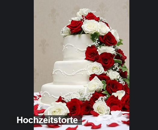 Beispiel: Hochzeitstorte, Foto: Martinspark Hotel Dornbirn.