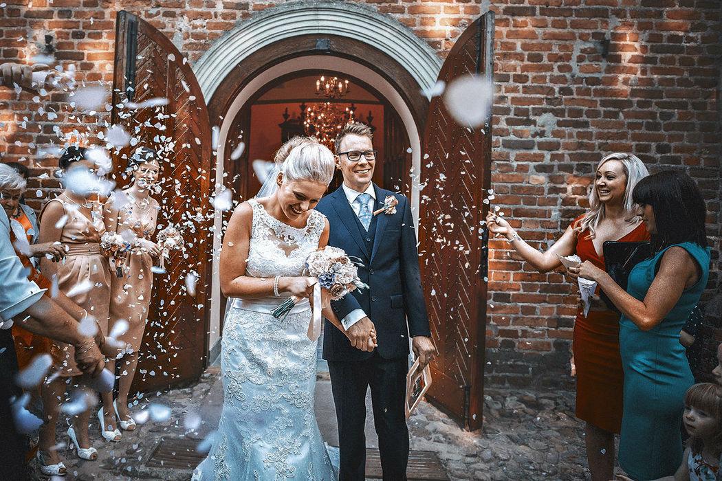 Tuż po ceremonii ślubnej