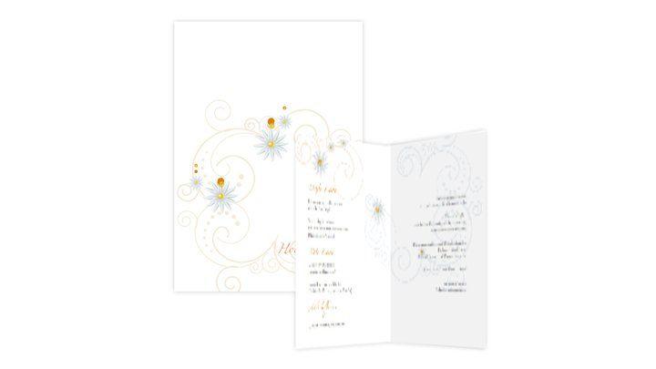 Beispiel: Menü Karten, Foto: Hochzeitskarten-Traum.