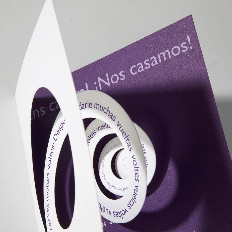 Invitación díptico espiral