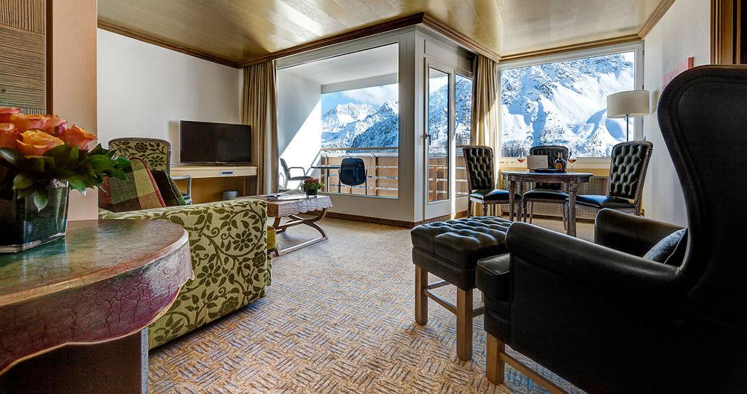 Beispiel: Suite, Foto: Tschuggen Grand Hotel Arosa.