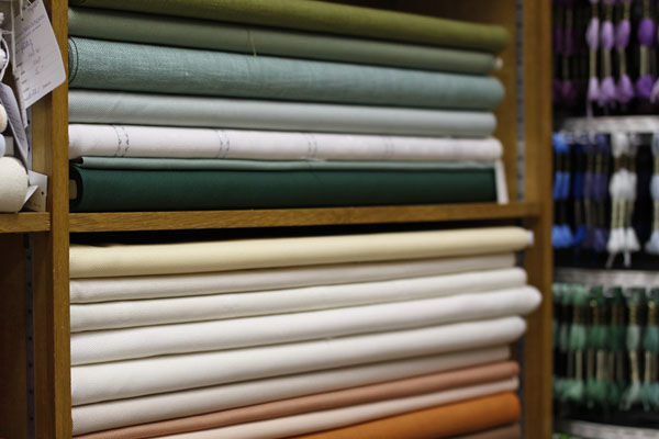 Beispiel: Stoffe in verschiedenen Farben, Foto: Backs & Co.