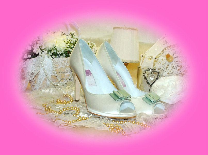 Scarpa dècolletè spuntata sposa.