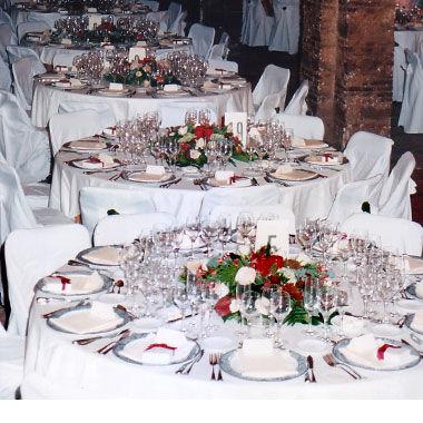 Decoración floral de salones de boda