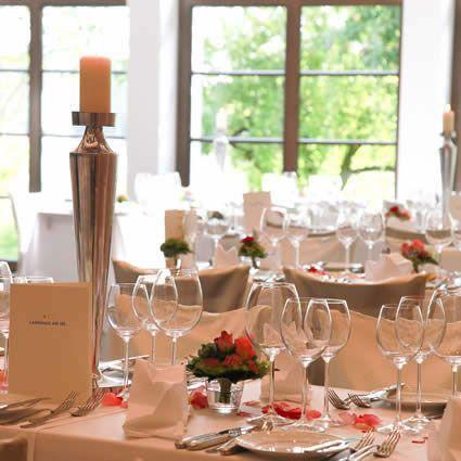 Beispiel: Tischdekoration, Foto: Landhaus am See.