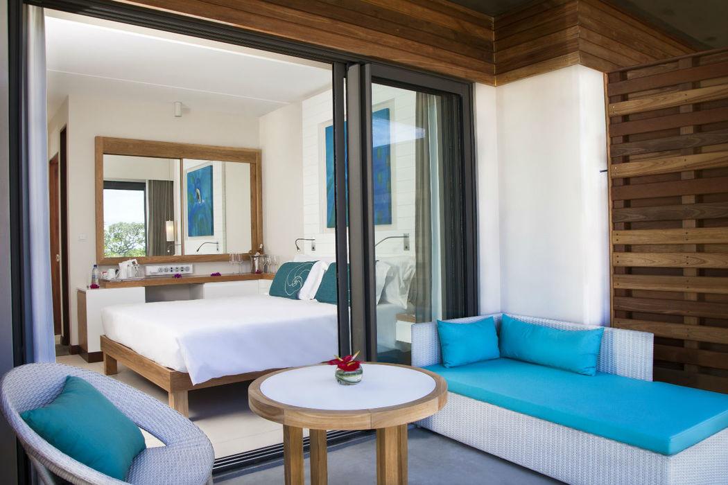 Zimmerbeispiel des in 2012 neu eröffnetem Centara Posté Lafayette Resort & Spa Mauritius, Foto: Centara Hotels and Resorts.