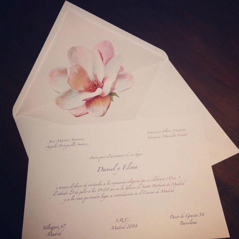 Invitación Magnolio Colecciçon Flores únicas