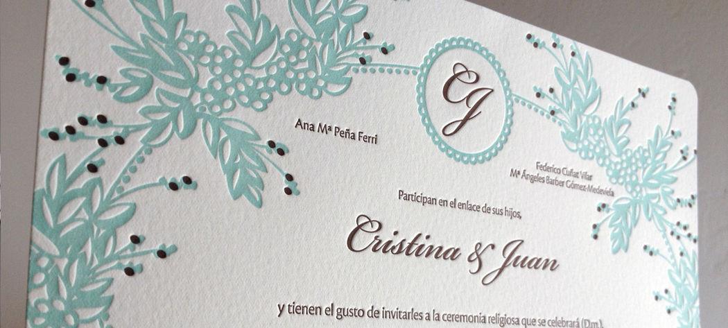 Diseño Personalizado Letterpress