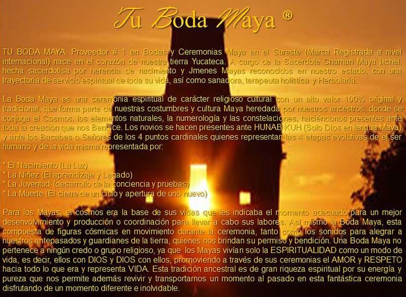 Informacion de la Boda Maya Tu Boda Maya