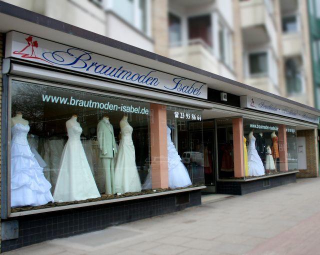 Beispiel: Brautgeschäft in Hamburg, Foto: Brautmoden Isabel.