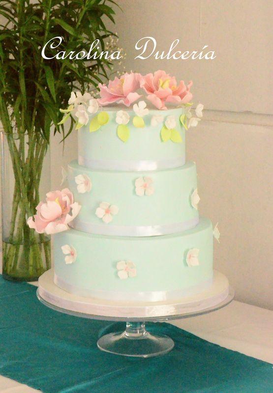 Flores de azùcar en tonos pastel