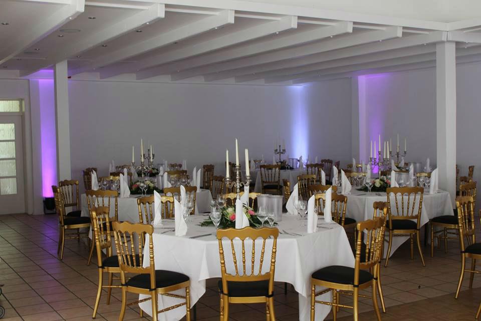 Beispiel: Tischanordnung, Foto: Seehaus Ingolstadt.