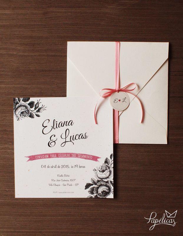 Atelier Papélicas - convite Rosas